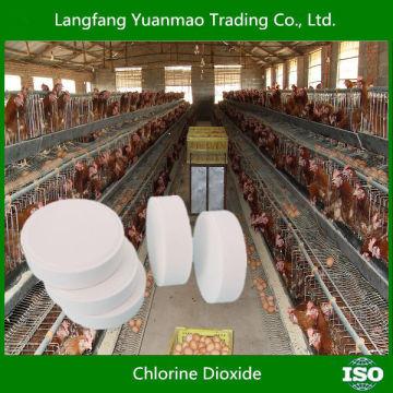 Le dioxyde de chlore comme stérilisant désinfectant fongicide pour l'élevage et la volaille