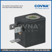 Covna caja de plástico AC24-240V o bobina de válvula solenoide DC12-48V