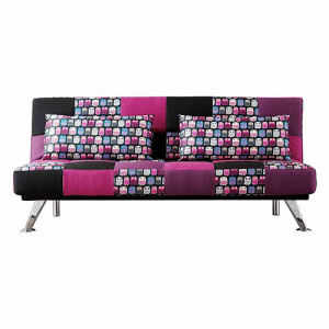 Folding Armless Settee Loveseat Futon Soffa
