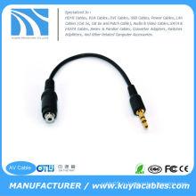 3.5mm к 2.5mm женскому стерео аудио переходнике кабеля для телефона MP3 ipod