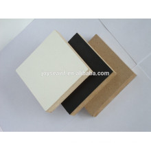 low price standard size and big size colored Melamine mdf and Raw MDF Board