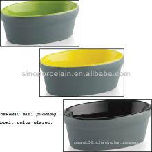 Colorido, cerâmico, mini, pudim, tigela, BS12085C