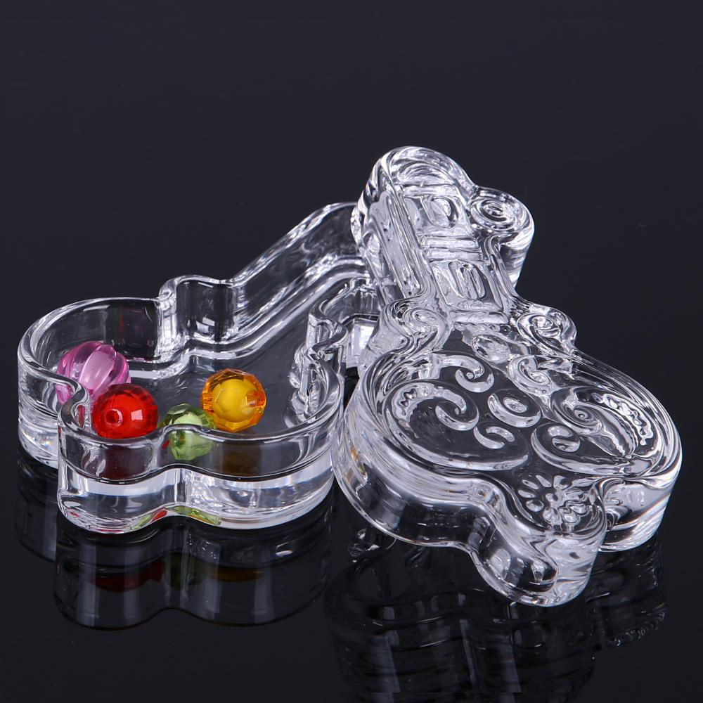 Br 1729 Key Shape Clear Glass Cookie Box Candy Jar