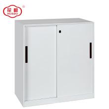2018 novo design meia altura armário de arquivo de porta de correr de metal com prateleiras