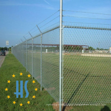Chain Link Mesh with Barbed Wire Fence