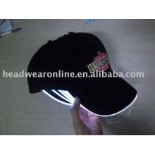 LED baseball caps with embroidery logo