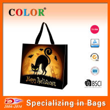 2014 new design mat or shiny lamaintion Halloween party bag