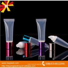 Tubo de bálsamo de labios de plástico con color personalizado y impresión de logotipo