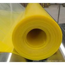 Hoja de goma del silicón de la hoja de goma del silicón del color amarillo brillante