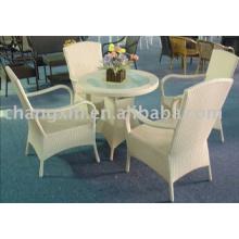 Caliente venta silla de la rota del jardín al aire libre y muebles de ratán mesa, PE
