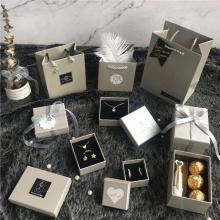 Caixa de joias de papel para embalagem de sacola de presente
