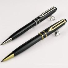 Металлические зажимы ручки бесплатно логотип, высокое качество металла Твист шариковая ручка