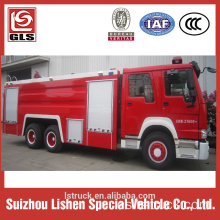 Howo firefighting vehicle 6x4 drive 12000L