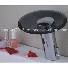 Robinet mélangeur d'eau à capteur automatique avec verre noir
