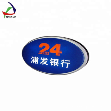 Round shape abs vacuum forming plastic advertising light box supplier