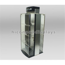 Factory Price Wood Base Illuminating Countertop Advertising Jewelry Store Jewellery Display Showcase