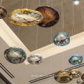 Candelabros de bola de lujo Proyecto de hotel Luz LED
