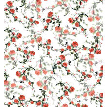 Tela tejida impresa digital floral de la ropa del poliéster