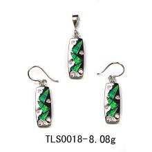 Conjunto de joias de prata de opala (YS00028)