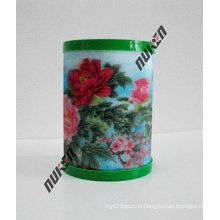 2015 Hot Design Acrylic Pen Holder with Flowers