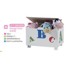 Wooden Toy Storage Toy Box Bench Chest Children Furniture Toy Chest Decoration Chest Storage Case
