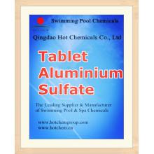 Таблетки Флокулянта сульфата алюминия для очистки воды химических веществ CAS 10043-01-3