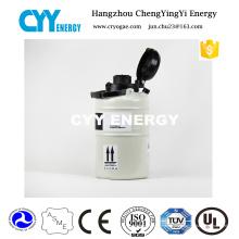 3L kryogener Flüssigstickstoffbehälter aus Aluminiumlegierung mit kleiner Kapazität