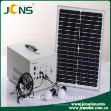 Sistema de sol solar de DC 12v para uso doméstico con cargador de luz led y teléfono móvil