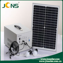 DC 12v solar sun system for home use with led light&mobile phone charger