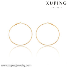 91043 Xuping Jewerly Femmes Simple Trendy Styles Hoop Boucles d'oreilles