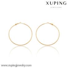 91043 Xuping Ювелирных Изделий Женщин Простой Модные Стили Хооп Серьги