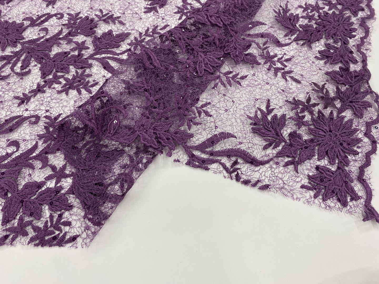 Poly French Mesh Embroidery Fabric