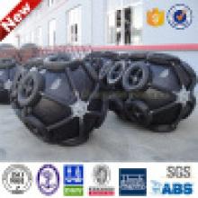 D=1700mm EL=2500mm Yokohama Floating Pneumatic Fenders/ Sling Type and Tire Net