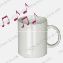 Записываемая кружка, Рекламная кружка, Керамическая кружка, Музыкальная кружка