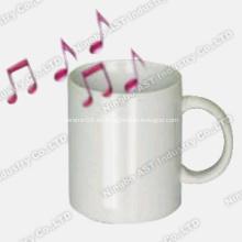 Taza grabable, taza promocional, taza de cerámica, taza de música