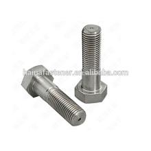 Boulon hexagonal en acier inoxydable 316L à demi-fil (M5 --- M100)
