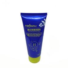 Tubo cosmético do líquido de limpeza facial macio plástico 150ml vazio