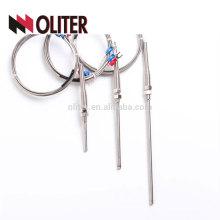 wzp rtd temperature sensor heat resistance flexible insulate braiding cables ss304 ss316 needle probe pt100