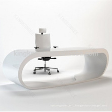 Простой черный и белый офисный стол мебель