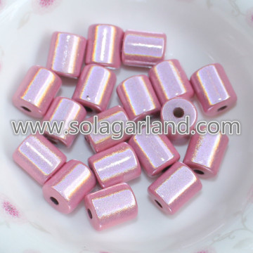 8*10MM Acrylic Cylinder Miracle Beads 3D Illusion Bead Charms