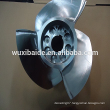 Top tolerance cnc machining stainless steel 17-4PH Blade for boat , cnc turning stainless steel parts service