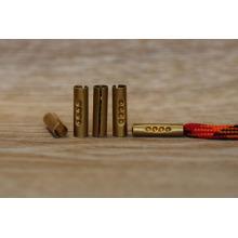 Atacado de metal personalizado aglet / clipe de metal final para cordão de sapato e sapato derrubando máquina