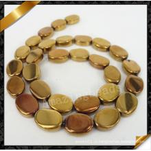 Естественный Gemstone, шарик способа Gemstone с плакировкой, шарики овального Gemstone (YAD026)