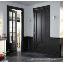 Porta de madeira interior do MDF com dois lites, porta da sala da cozinha