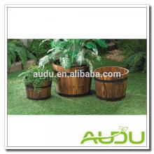 Audu Cajas de Plantador de Madera, Cajas de Plantador, Plantador de Barril de Madera