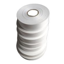 Single side pearl white flat polyester taffeta ribbon for garment