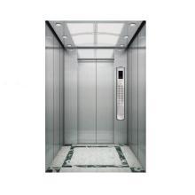 Decoración de cabina de acero inoxidable con elevador de pasajeros de 1000 kg