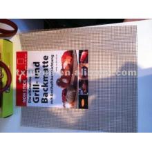 Fibra de vidro Non-stick Acessórios para churrasco Grill Mesh, Hole Size: 4mm * 4mm