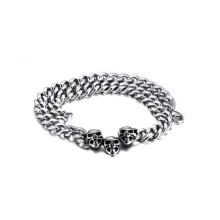 Wholesale pas cher collier chaîne de crâne par 316l en acier inoxydable