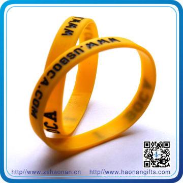 Import China Produkte Werbegeschenke Benutzerdefinierte Silikon Armbänder (HN-SB-0090)